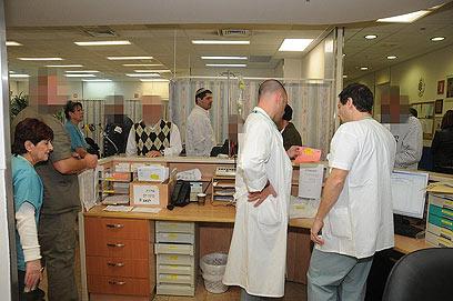 בית החולים סורוקה אתמול. היחיד בשטח הנגב (צילום: הרצל יוסף) (צילום: הרצל יוסף)