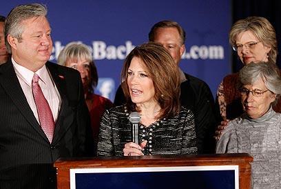 זכתה רק ל-5% באיווה, שם זכתה באוגוסט במשאל הפעילים הרפובליקנים (צילום: AP) (צילום: AP)