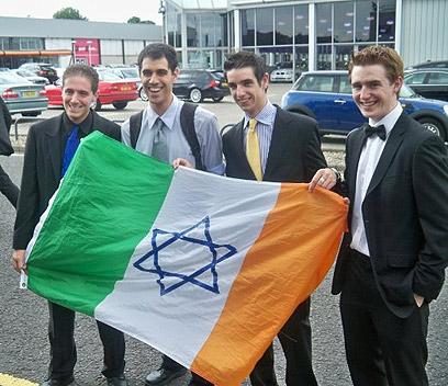 דגל אירלנד עם מגן דוד. מנצחים בהסברה  ()