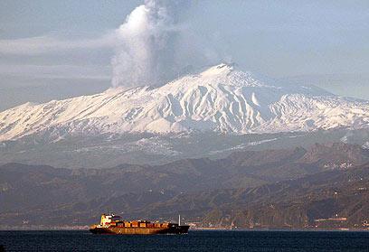 ההתפרצות. הר הגעש נוטה להתפרץ מדי פעם (צילום: EPA)