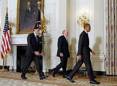 """אובמה. """"לא חושב שישראל קיבלה החלטה"""" (צילום: AP) (צילום: AP)"""