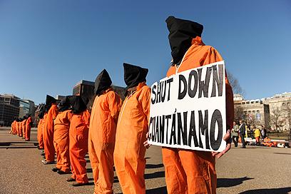 הפגנה נגד כלא גואנטנמו (צילום: EPA) (צילום: EPA)