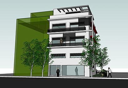 """פרויקט ברחוב מולדת 1 ת""""א (הדמיה: אקו סיטי) (הדמיה: אקו סיטי)"""