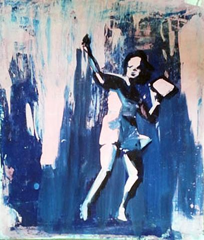 ללא כותרת, אקריליק על נייר, יוני גולד, 2011  (ציור: יוני גולד)