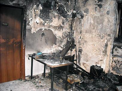 אחרי השריפה בדירה