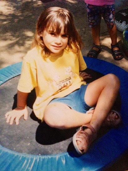 הילדה שובל אלגרבלי. הייתי ילדה קצת חננה