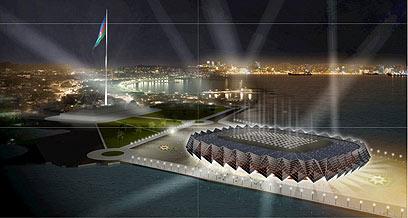 הדמיית אולם האירוויזיון בבאקו. 23 אלף מקומות  (צילום: GMP/Alpine/Nussli) (צילום: GMP/Alpine/Nussli)