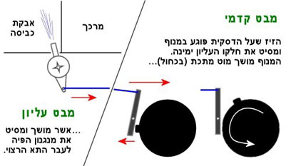 כיוון מכני של זרם המים לאיסוף אבקת  (צילום: עידו גנדל) (צילום: עידו גנדל)