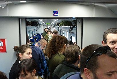 כל 40 דקות במקום כל 20. רכבת ישראל (ארכיון) ()