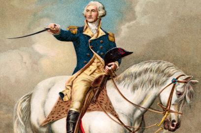וושינגטון על הסוס (צילום: shutterstock)