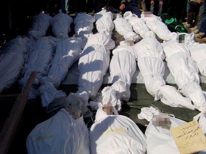 קבורה המונית בחומס בסוף השבוע (צילום: רויטרס) (צילום: רויטרס)