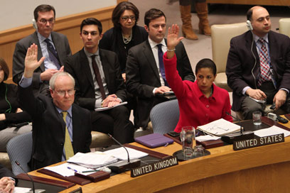 """שגרירת ארה""""ב בעד ההחלטה. """"הדם על ידיהן של הנמנעות"""" (צילום: AP) (צילום: AP)"""