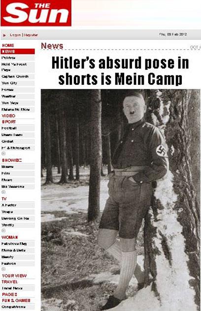 רוצח המונים במכנסונים. היטלר