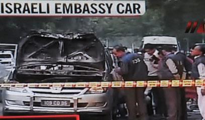 הנהג ואשת הדיפלומט נפצעו  (צילום: AFP) (צילום: AFP)