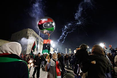 Libyans celebrated one year to revolution in February (Photo: Reuters)