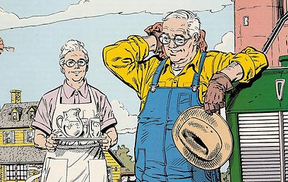 חקלאים חביבים, וילד אחד עם אמביציית הצלת עולם (עטיפת הקומיקס) (עטיפת הקומיקס)