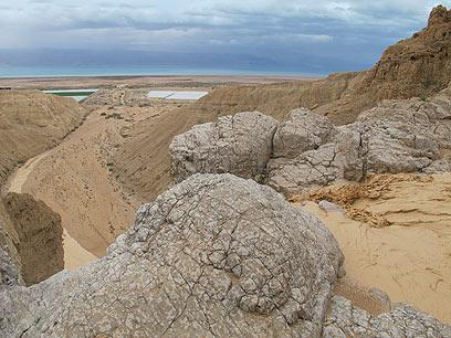 שיטפון באזור ים המלח (צילום: עמיר אלוני, רשות הטבע והגנים) (צילום: עמיר אלוני, רשות הטבע והגנים)