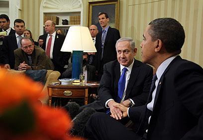 הזדמנות שהוחמצה. פגישת נתניהו ואובמה בבית הלבן  (צילום: EPA) (צילום: EPA)