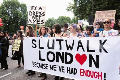 מפגן מחאה נשי בלונדון (צילום: shutterstock) (צילום: shutterstock)