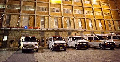 בית החולים הדסה עין כרם, לשם פונה החייל (צילום: אוהד צויגנברג) (צילום: אוהד צויגנברג)