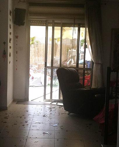 בית שנפגע בבאר שבע (צילום: נחמן חייט)