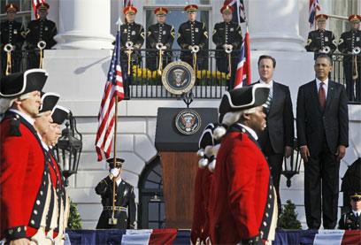 טקס קבלת הפנים בבית הלבן. תותחים ונחתים (צילום: AP) (צילום: AP)