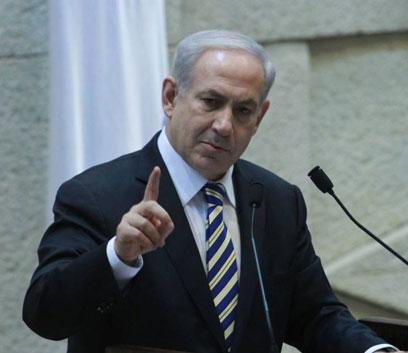 """ראש הממשלה נתניהו. """"שנצא מיהודה ושומרון? איראן תיכנס"""" (צילום: גיל יוחנן) (צילום: גיל יוחנן)"""