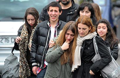 זירת הפיגוע ליד בית הספר בטולוז (צילום: AFP) (צילום: AFP)