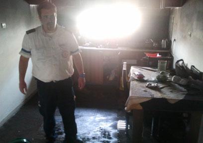 Jaljulia flat after fire (Photo: Meidan Ben-YOASH, mda)