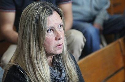 אילנה חג'ג' בבית המשפט, הבוקר (צילום: מוטי קמחי) (צילום: מוטי קמחי)