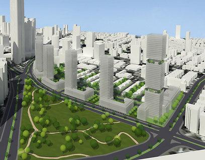 הדמיית הפרויקט. יהיו גם דירות קטנות וגם דירות להשכרה (צילום הדמייה: ישר אדריכלים)