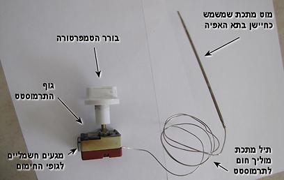 תרמוסטט של תנור אפייה  (צילום ועיבוד: עידו גנדל) (צילום ועיבוד: עידו גנדל)