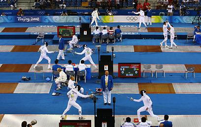 קרב חמש באולימפיאדת בייג'ינג 2008 (צילום: Gettyimages) (צילום: Gettyimages)