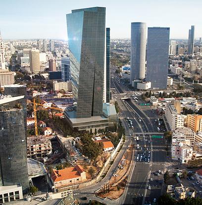 הדמיה של המגדל החדש מכיוון דרום (צילום: ישראל הדרי) (צילום: ישראל הדרי)