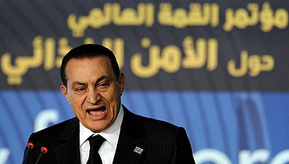 בתקופתו זה לא היה קורה. מובארק (צילום: AFP) (צילום: AFP)