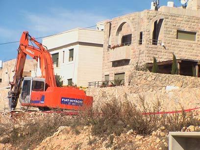 """בנייה בהר גילה. """"ירושלים לא עומדת למכירה"""" (צילום: עדי ששתיאל) (צילום: עדי ששתיאל)"""