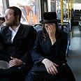 קו מהדרין בירושלים. הנשים יושבות מאחור צילום: אלכס קולומויסקי