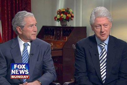 שרדו ניסיונות התנקשות. בוש וקלינטון (צילום: AFP) (צילום: AFP)
