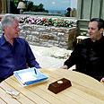 אהוד ברק עם ביל קלינטון במהלך השיחות