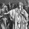 """""""ותמאן המלכה ושתי לבוא בדבר המלך"""". ציור של גוסטב דורה"""