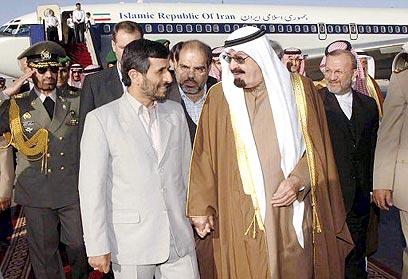 ביקור אחמדינג'אד בסעודיה. יחסים, אבל מתוחים (צילום: רויטרס) (צילום: רויטרס)