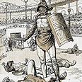ספרטקוס מנצח בקרב כגלדיאטור (הדפס מהמאה ה-19)