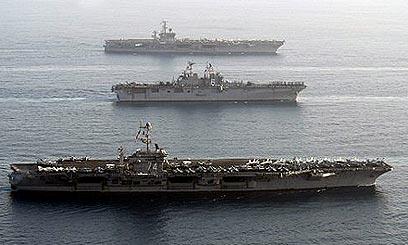 תמרון אמריקני במפרץ (ארכיון) (צילום: רויטרס) (צילום: רויטרס)