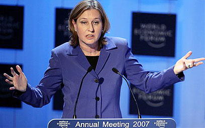 Livni at Davos. Archive (Photo: AP)