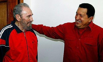 יחד עם פידל קסטרו (צילום: רויטרס) (צילום: רויטרס)