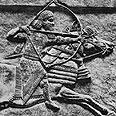 תחריט בו מוצגת דמותו של אשורבניפל, ממלכי אשור