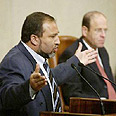 ליברמן נואם בדיון הצעת אי אמון בממשלה, 2002