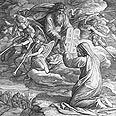 משה מקבל מאלוהים את לוחות הברית במעמד הר סיני. ציור משנת 1850 של הצייר Julius Schnorr von Carol