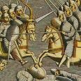 מוסלמים וצלבנים נלחמים באשקלון