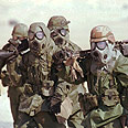לוחמים אמריקאים בערב הסעודית כאשר ארצות הברית התחילה להפציץ את עיראק, 1991